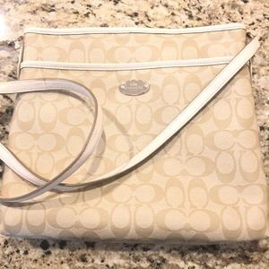 Coach Crossbody Bag white/beige